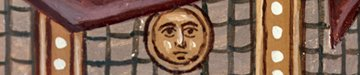 A-155 St George icon detail of medallion